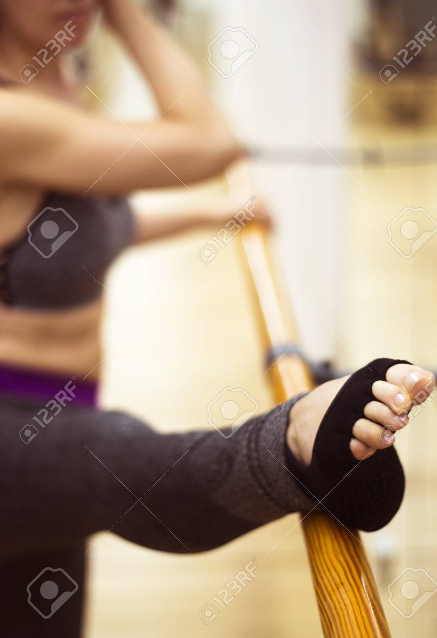 Pilates And Ballet Fitness Stretching And Yoga Studio Gym Bar Stock Photo Picture And Royalty Free Image Image 103585535