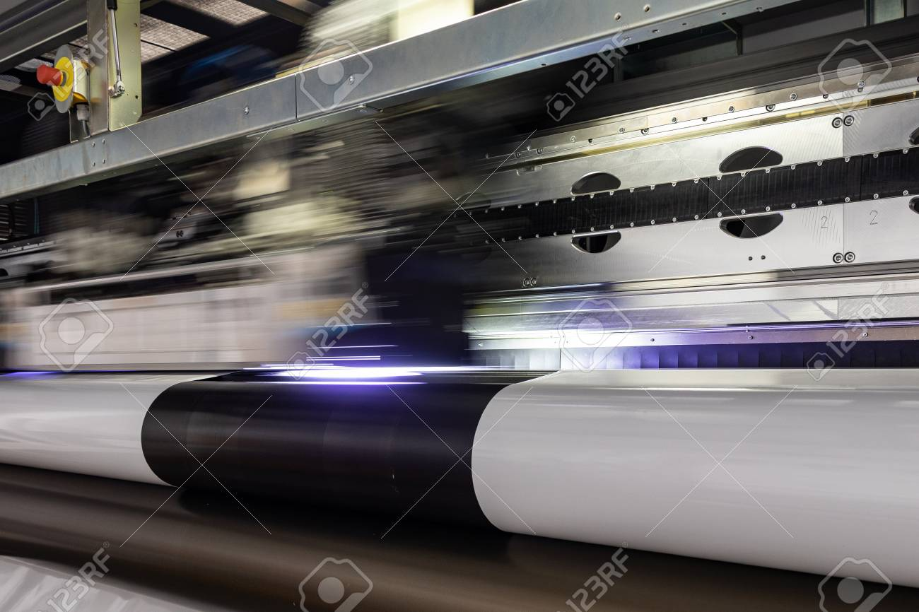 photograph regarding Printable Vinyl Rolls named Educated printing facility, massive vinyl rolls, prepared for higher..