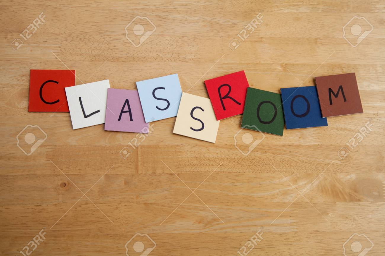 CLASSROOM - sign for education, schools, teaching, editorial Stock Photo - 17546950
