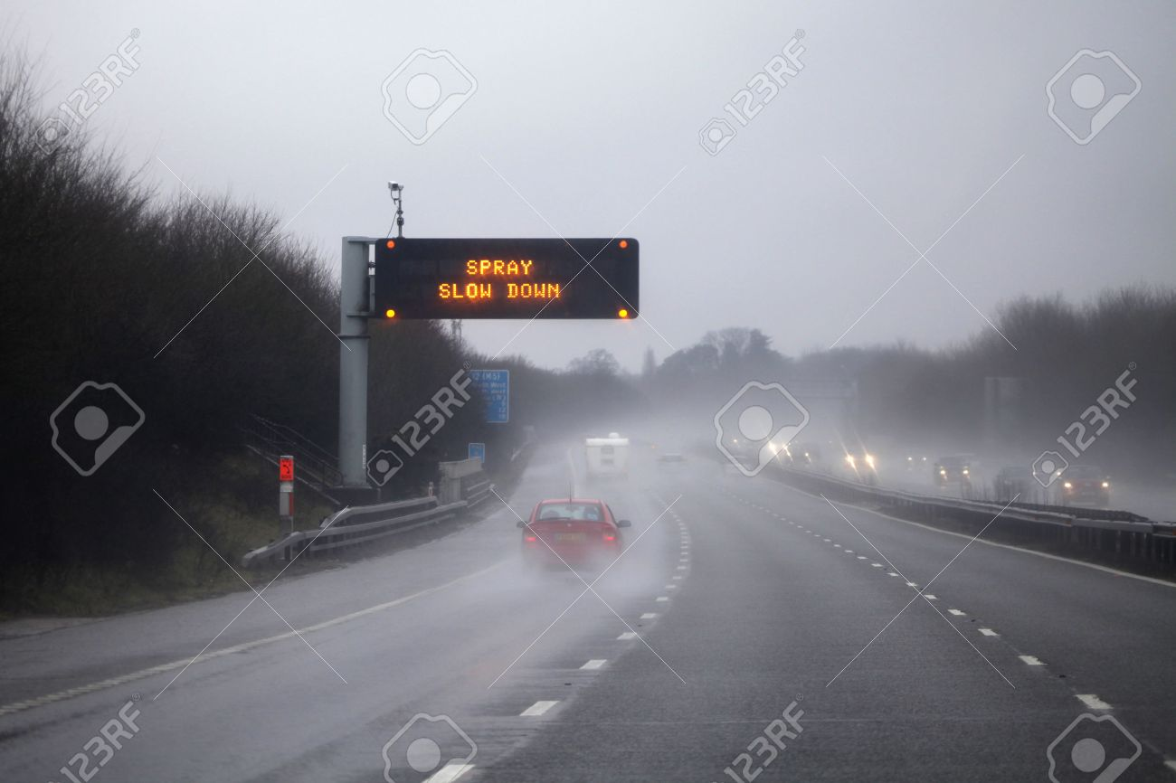 rain on the highway road adverse driving conditions on the stock photo picture and royalty free image image 41850936 rain on the highway road adverse driving conditions on the