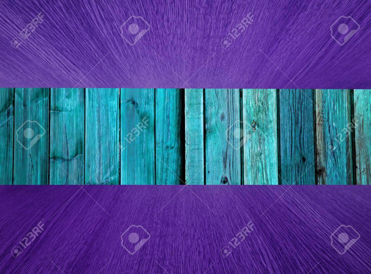 Naturholz Hintergrund Hintergrund Mit Türkis Grün Und Lila Boden