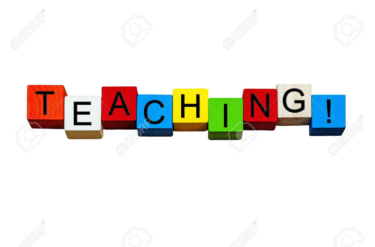 Teaching Word / Sign - For Education And Schools, In Bold Letters ...