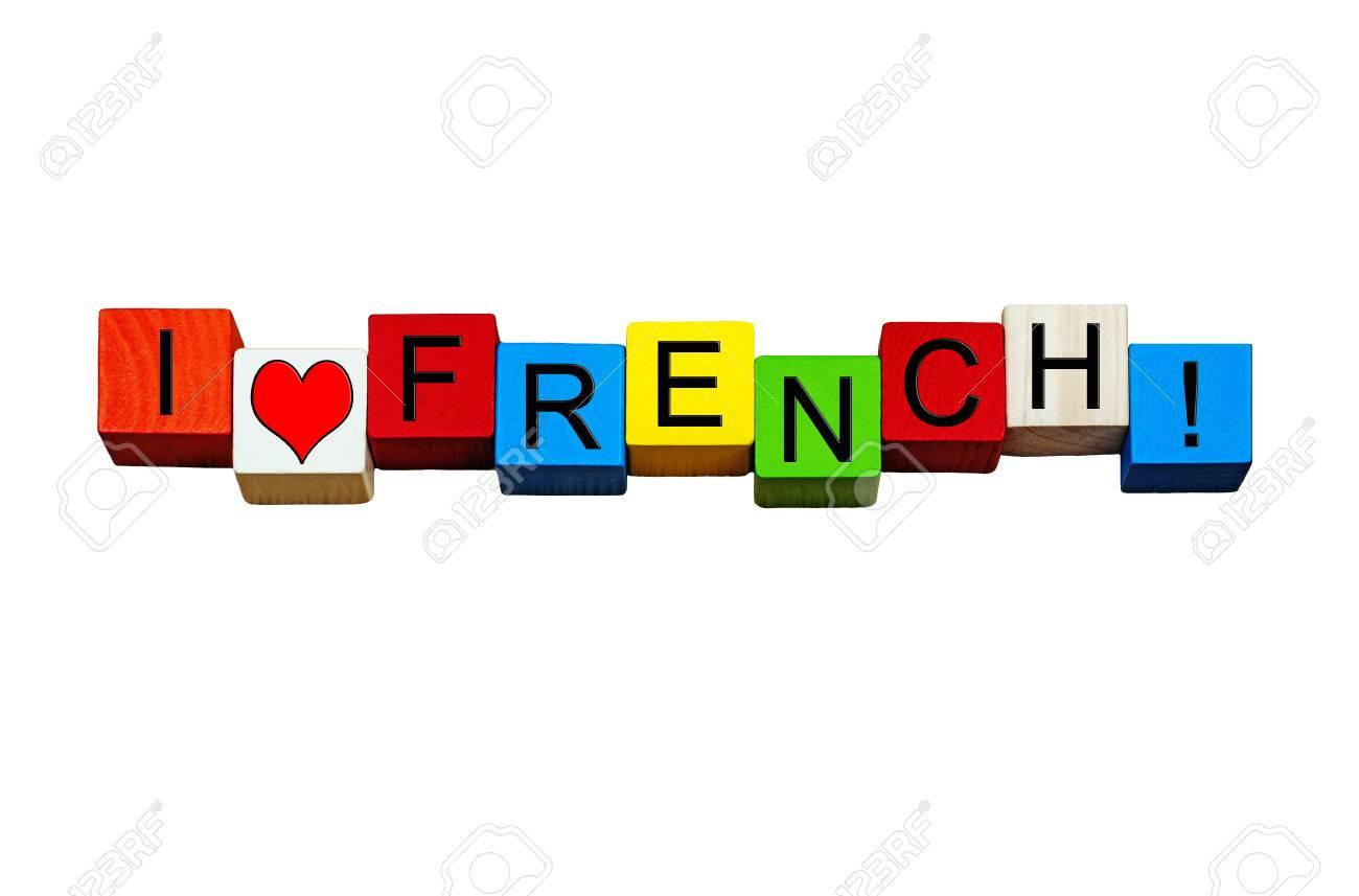 i love french sign banner or design for french language subject rh 123rf com french language clipart French People Clip Art