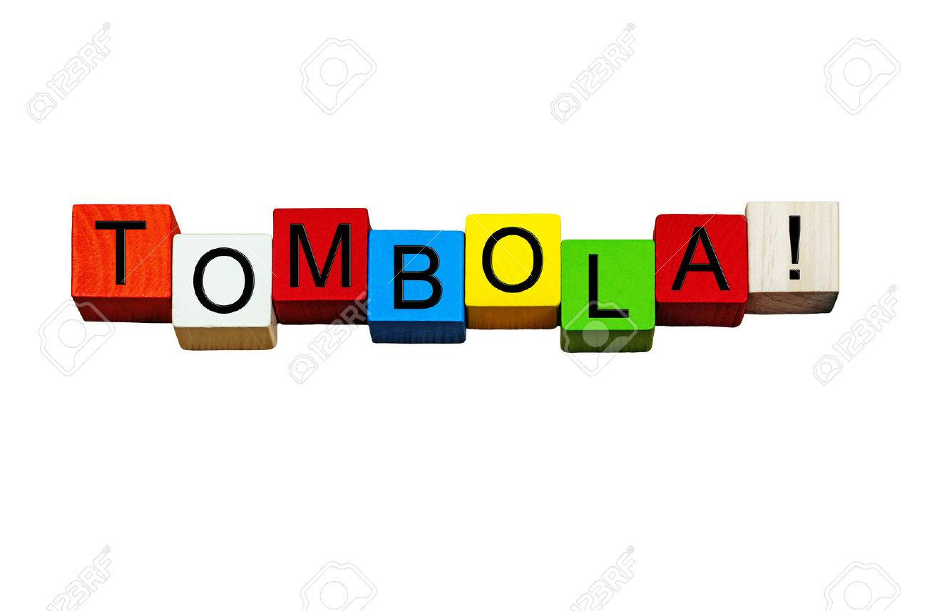 Tombola sign / word banner for raffles, lottery, fetes and shows