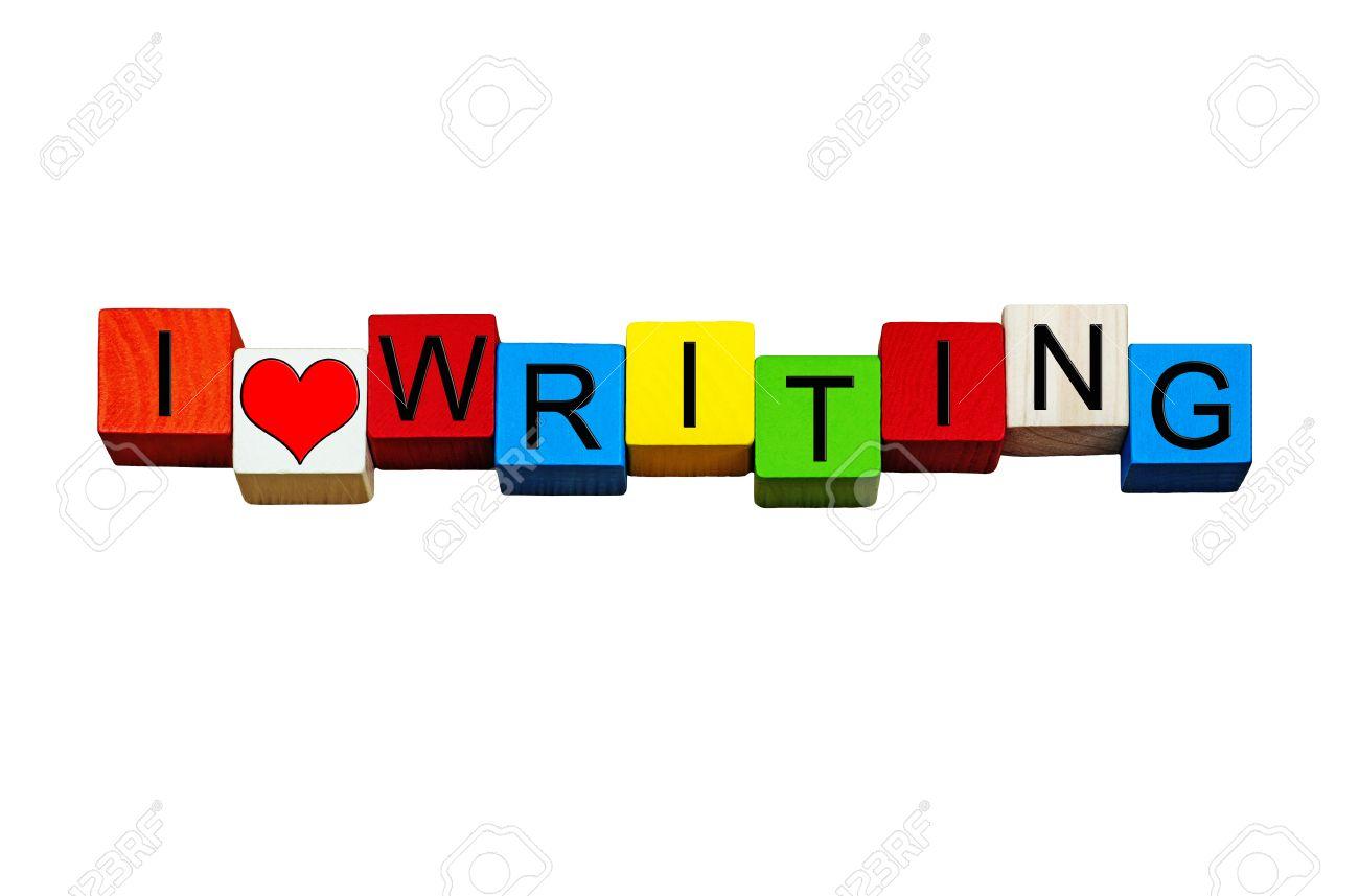 Ich Liebe Das Schreiben - Spaß Zeichen, Design Oder Banner - Für ...