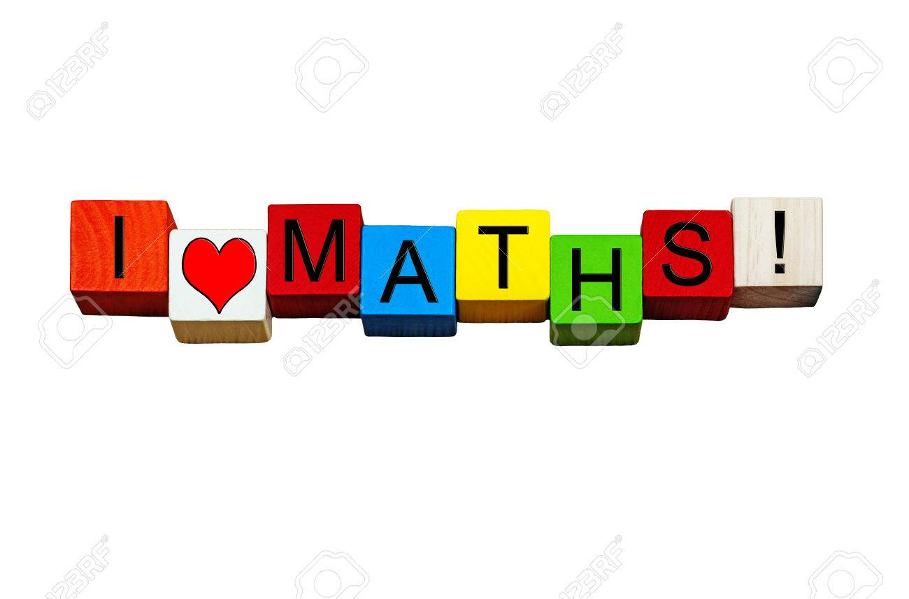 I Love Maths - Fun Sign / Banner For Numbers, Adding, Subtracting ...
