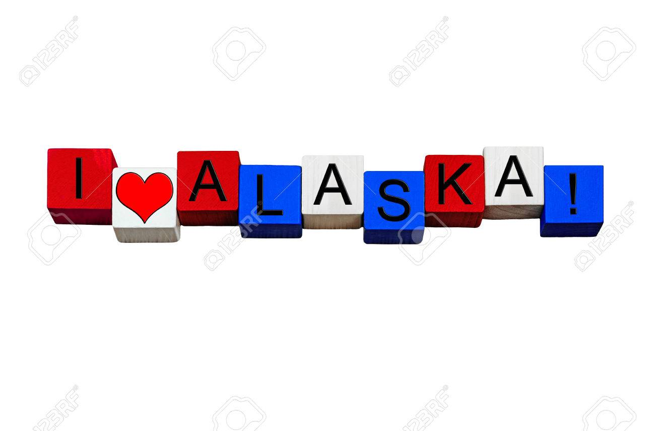 Ich Liebe Alaska Zeichen Serie Fur Die Amerikanischen Staaten
