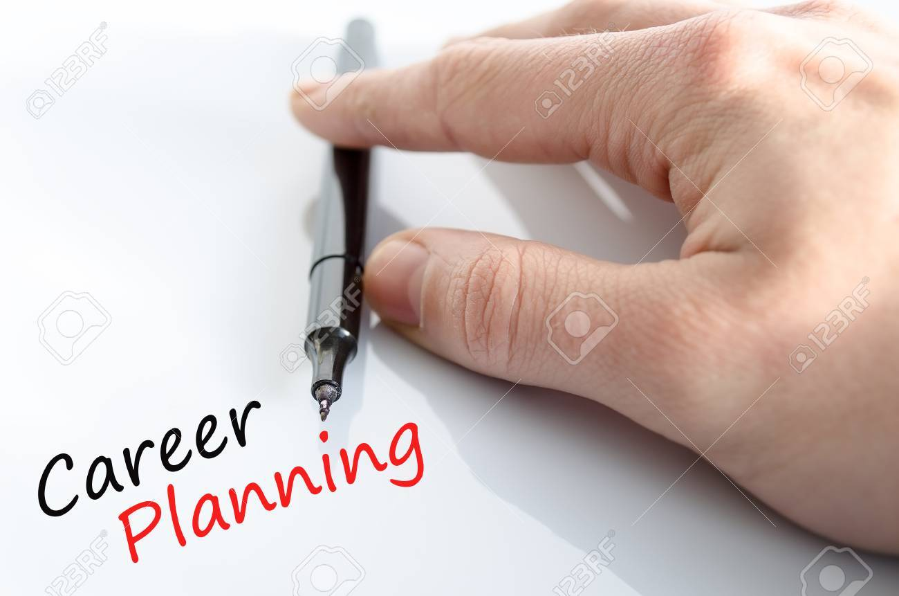 career planning concept isolated over white background stock photo career planning concept isolated over white background stock photo 38596198