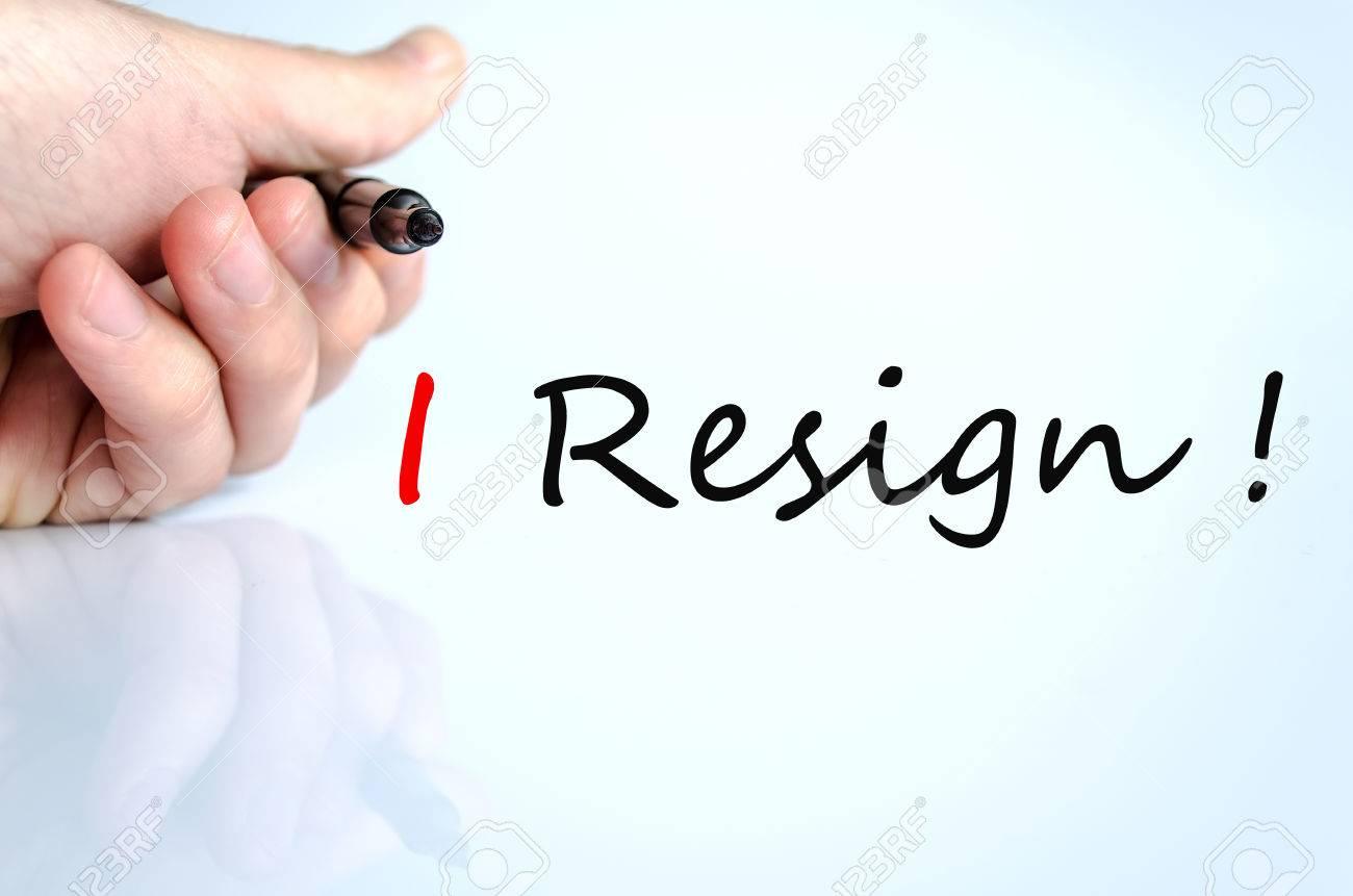 i resign concept isolated over white background stock photo i resign concept isolated over white background stock photo 38925579