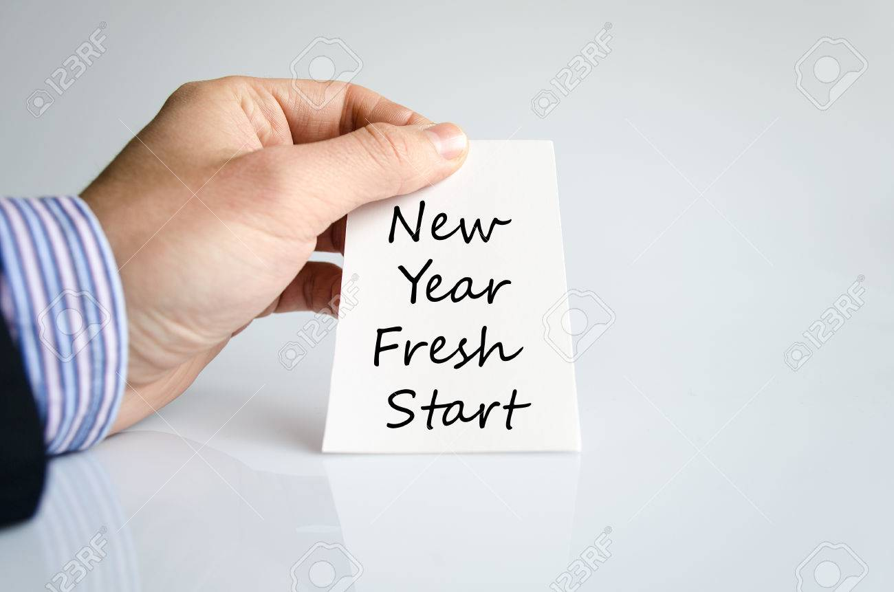 New Year Fresh Start Text Concept Isolated Over White Background ...