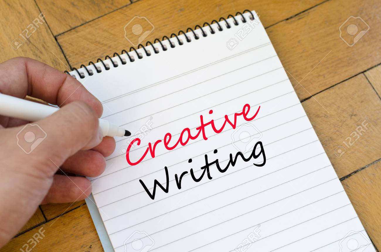 Creative Writing Text Concept Write On Notebook Stock Photo ...