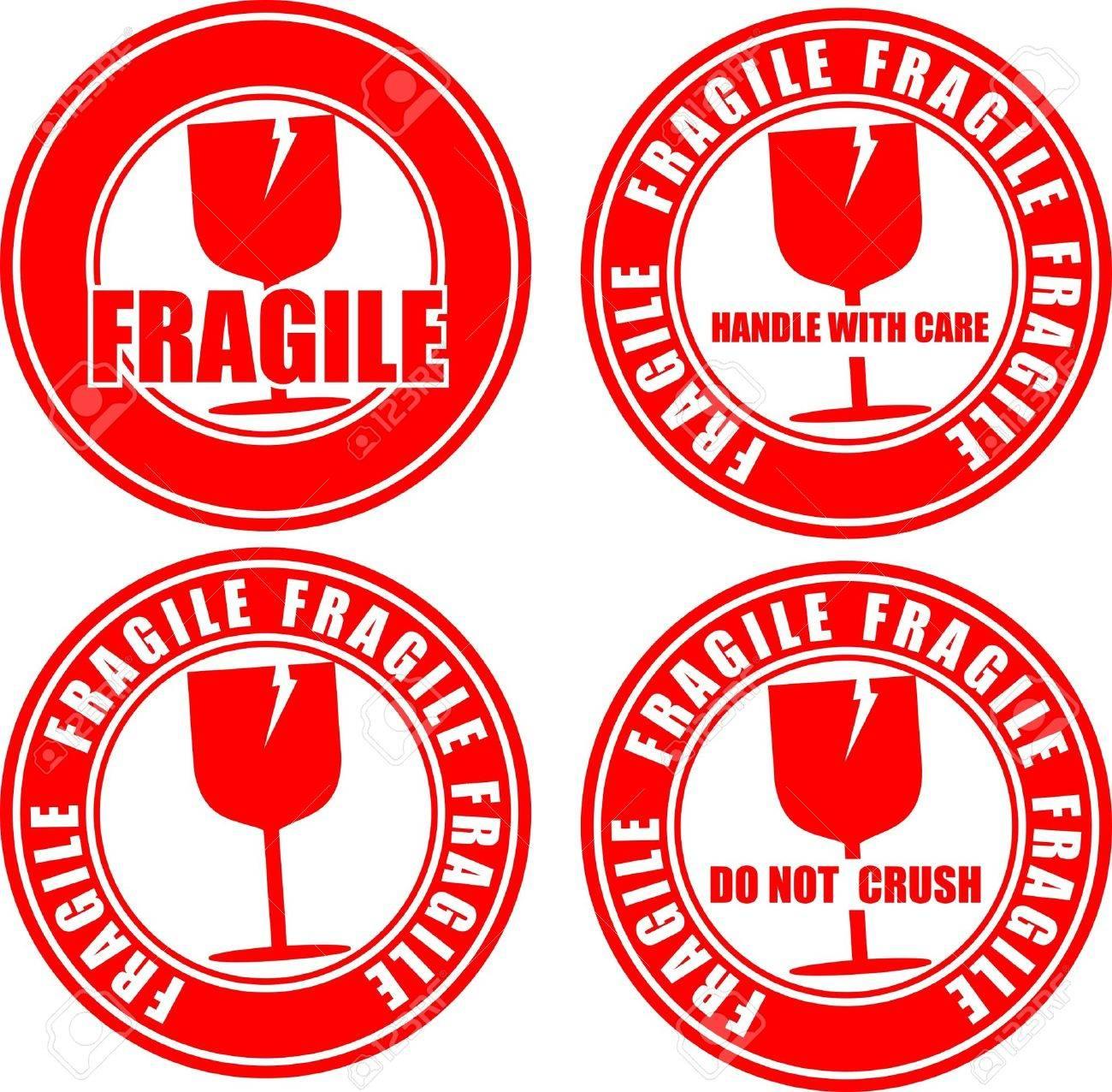 Fragile, icon Stock Vector - 18551737