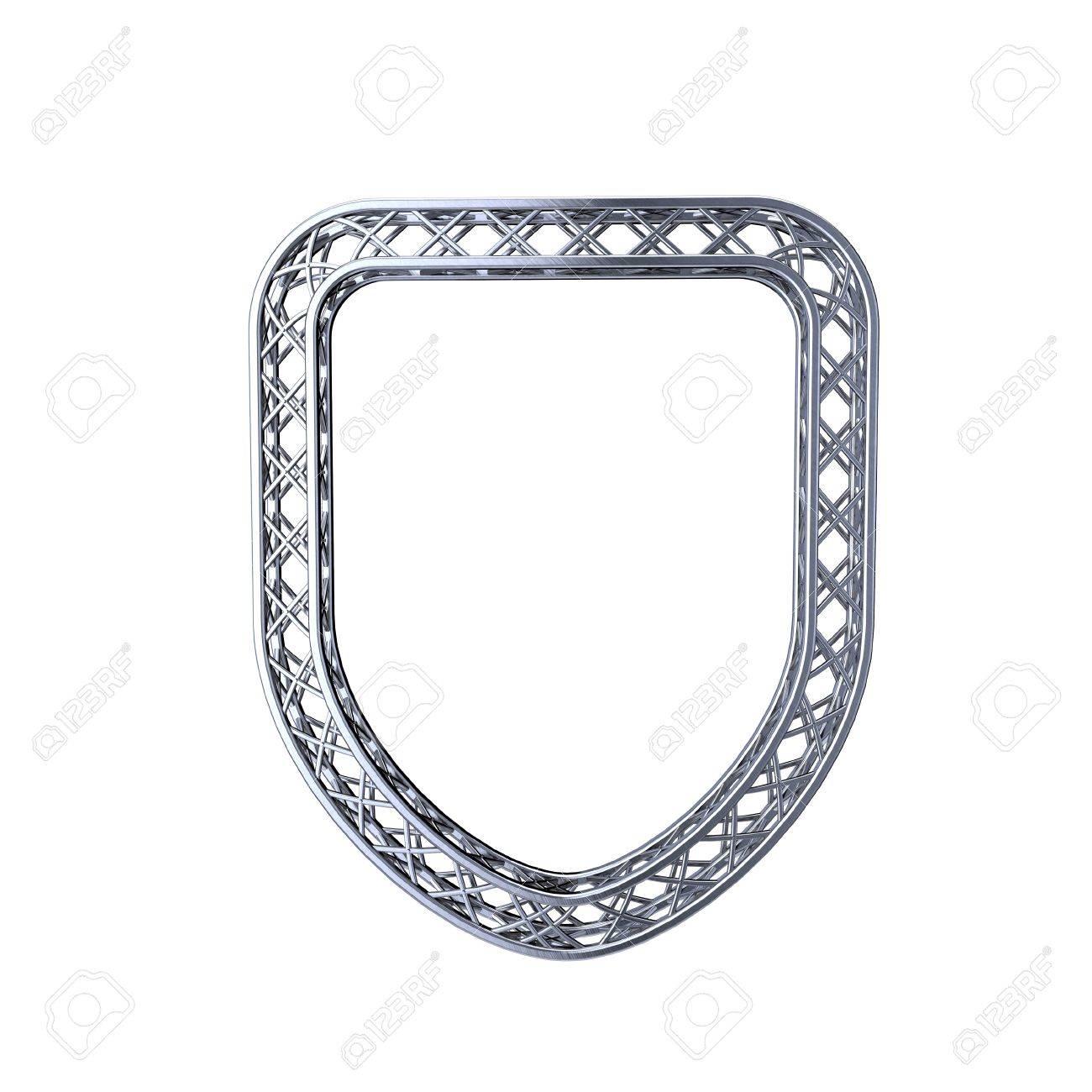 Truss Rahmen In Form Von Schild. Isoliert Auf Weißem Background.3D ...
