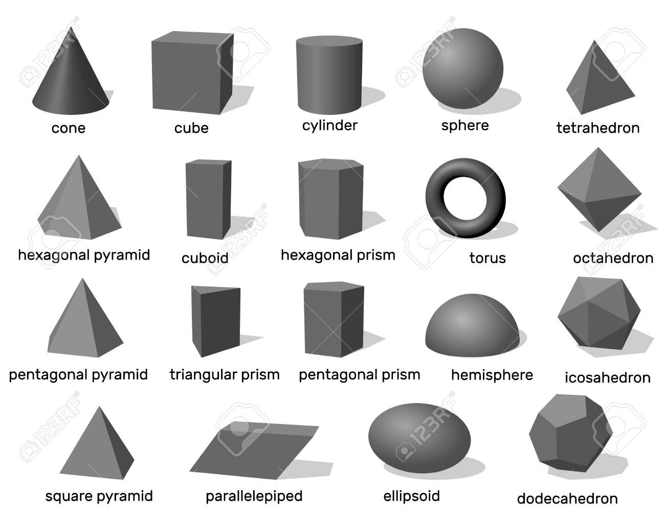 Grundlegende Geometrische Formen 3d Getrennt Auf Weißem Hintergrund Vektorabbildung Lizenzfrei Nutzbare Vektorgrafiken Clip Arts Illustrationen Image 87163421
