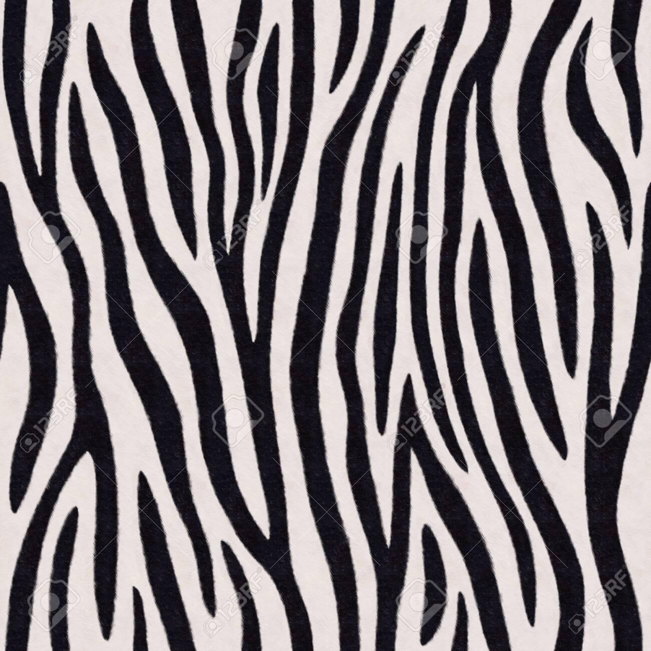 Zebra stripes seamless pattern. Endless black and white background. Raster illustration. - 149949738