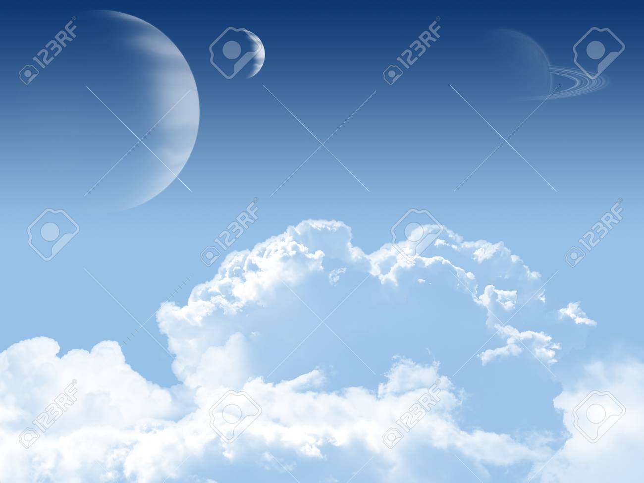 Sky background with planets. Stock Photo - 18512154