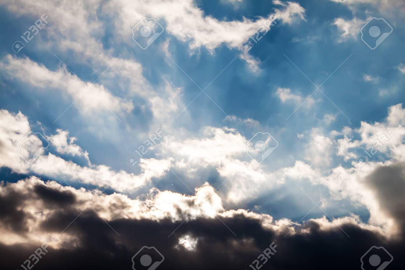 Beautiful sunset with clouds Stock Photo - 18932769