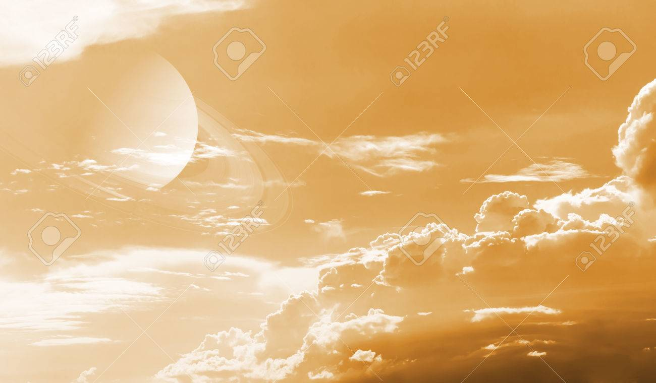 Sky with cloud and planet  Elements of this image furnished by NASA Stock Photo - 24634945
