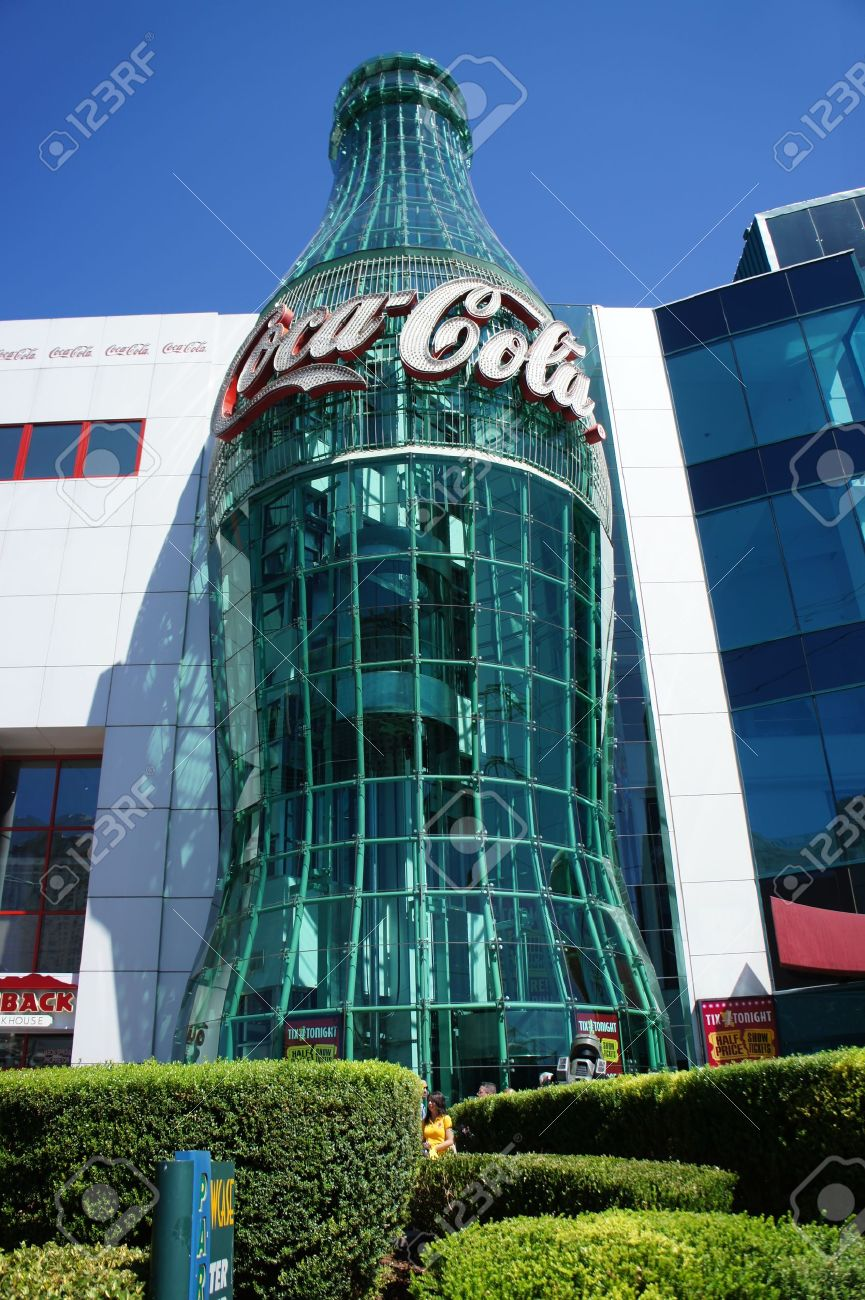 Las Vegas, Nevada - August 30 2011 : Coca-Cola store is a retail store that specializes in everything Coca-cola and is located in the Las Vegas Strip in Paradise, Nevada Stock Photo - 10739063