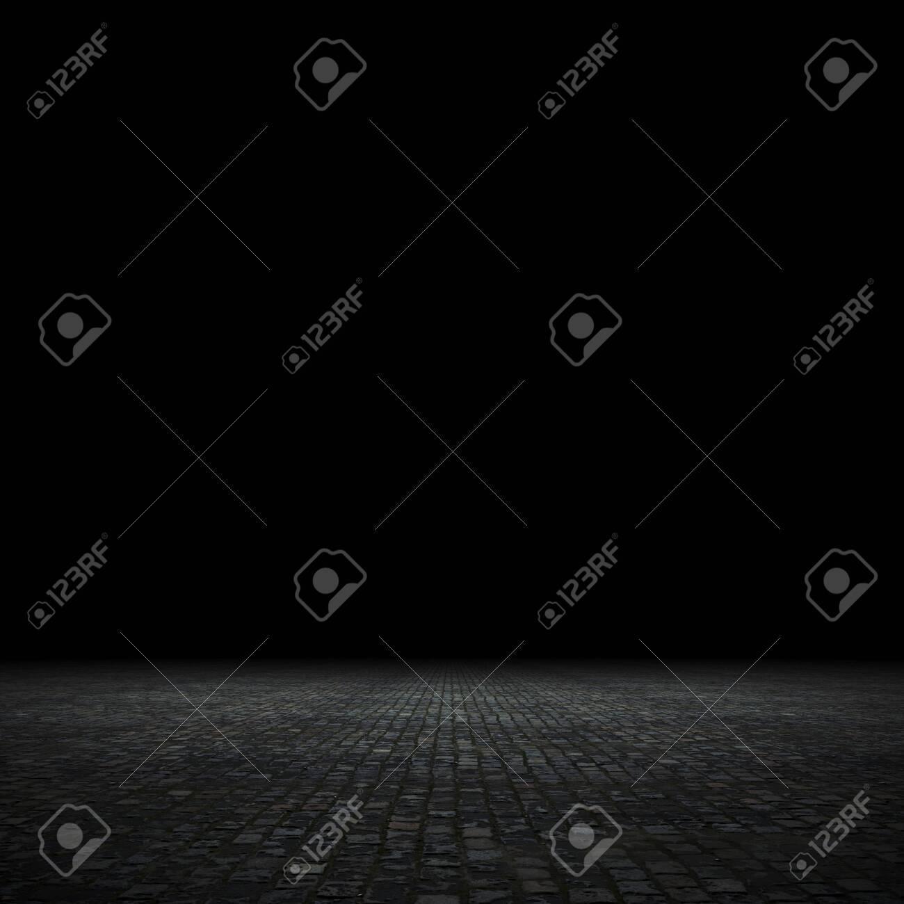 Empty spot lit dark background, 3d render - 139271496