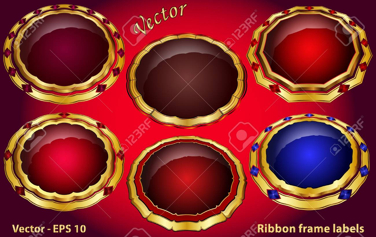 Ribbon Frame Labels Stock Vector - 15081323