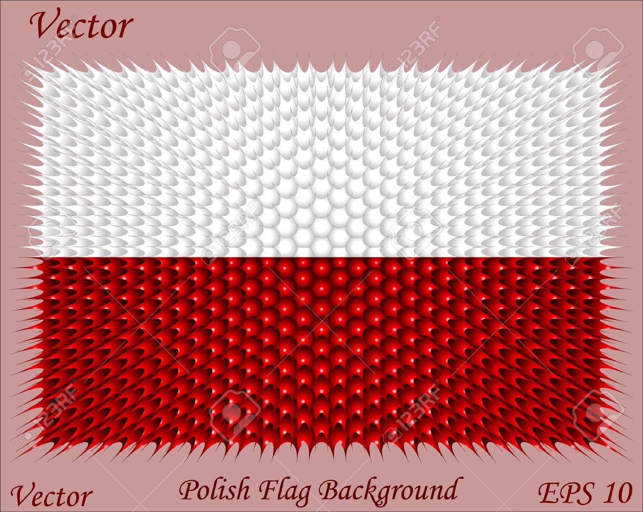 Polish Flag Background Stock Vector - 15504637