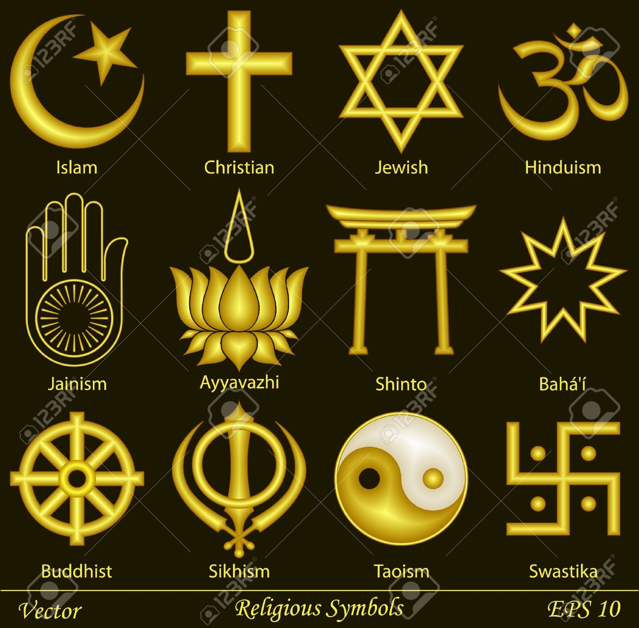Religious Symbols Royalty Free Cliparts Vectors And Stock