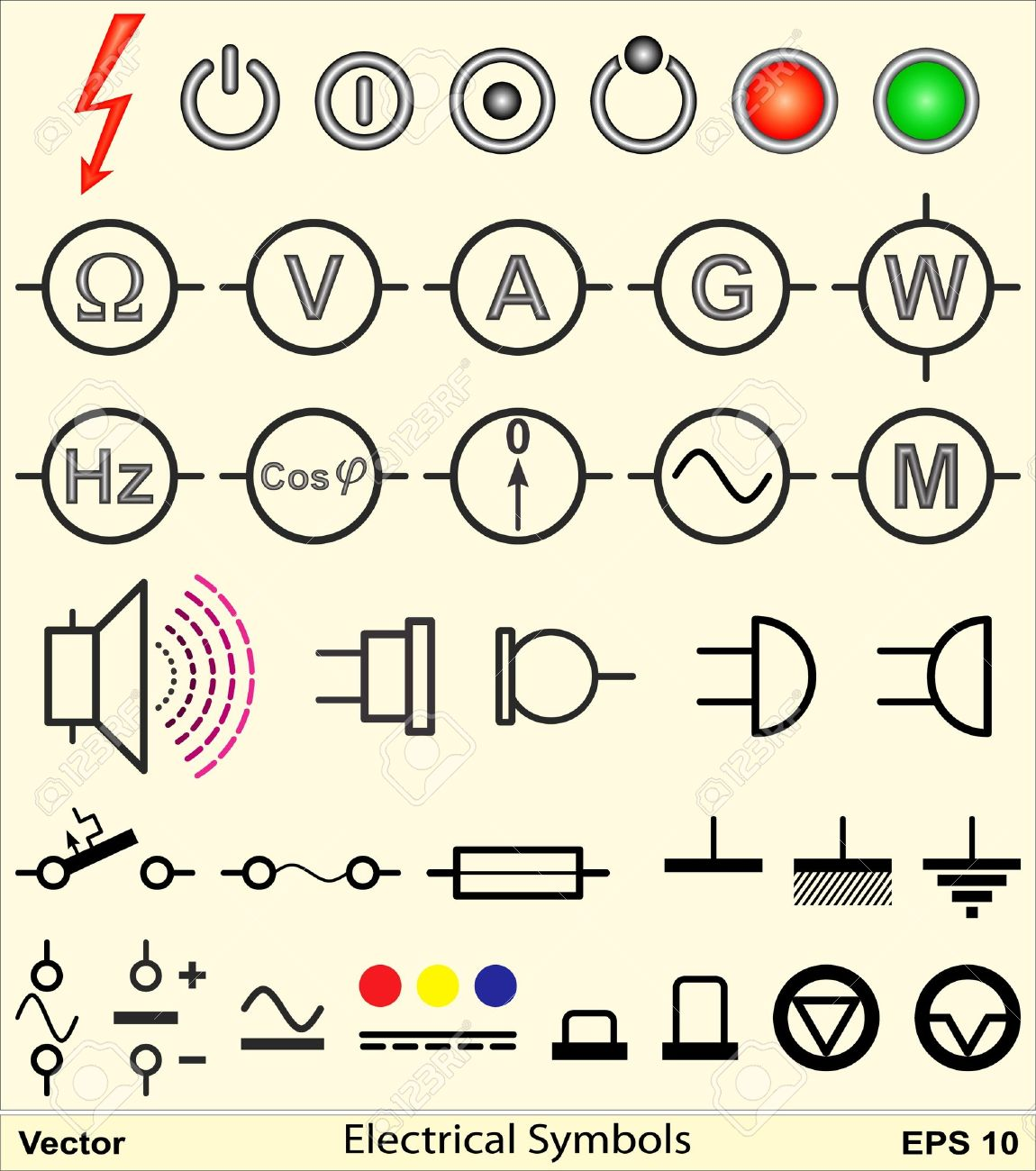 Electrical Symbols Royalty Free Cliparts, Vectors, And Stock ...