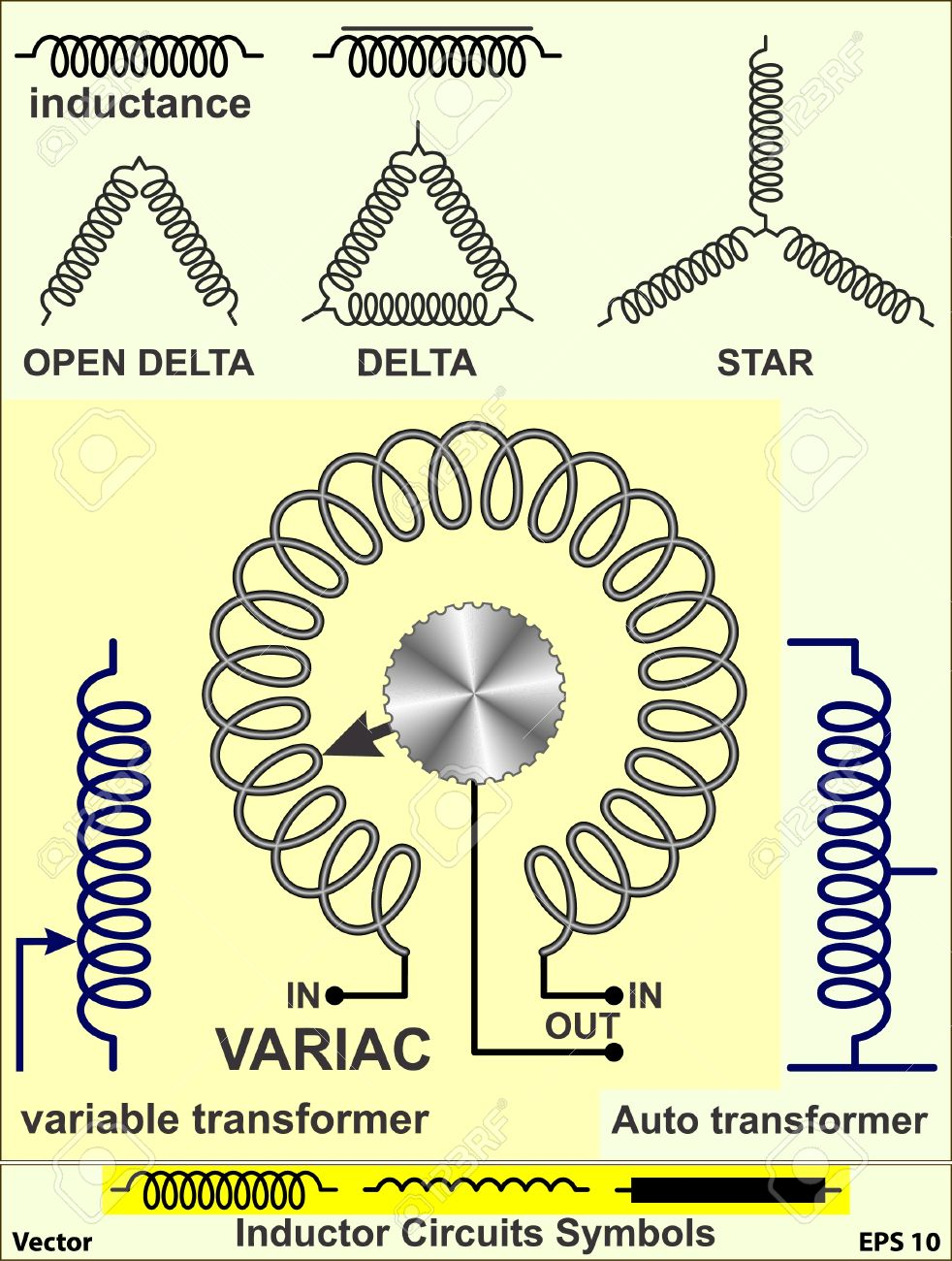 Inductor Circuits Symbols Royalty Free Cliparts, Vectors, And Stock ...