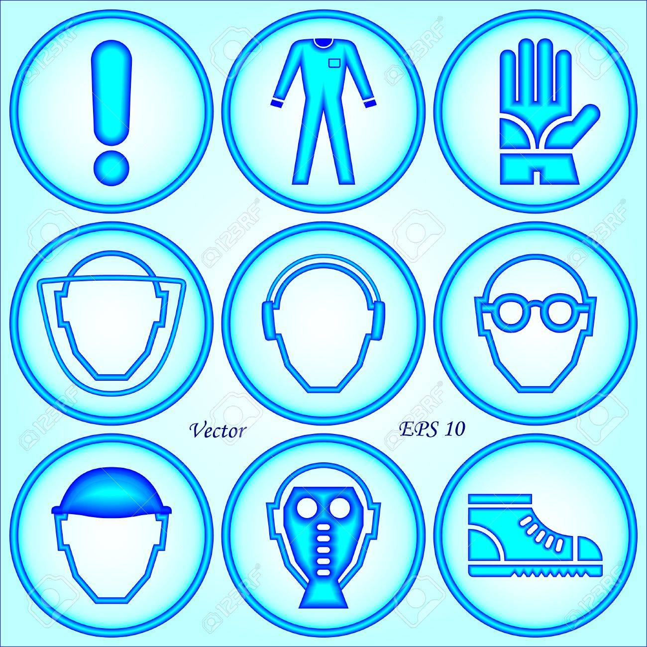 Safety Signs Stock Vector - 18389099