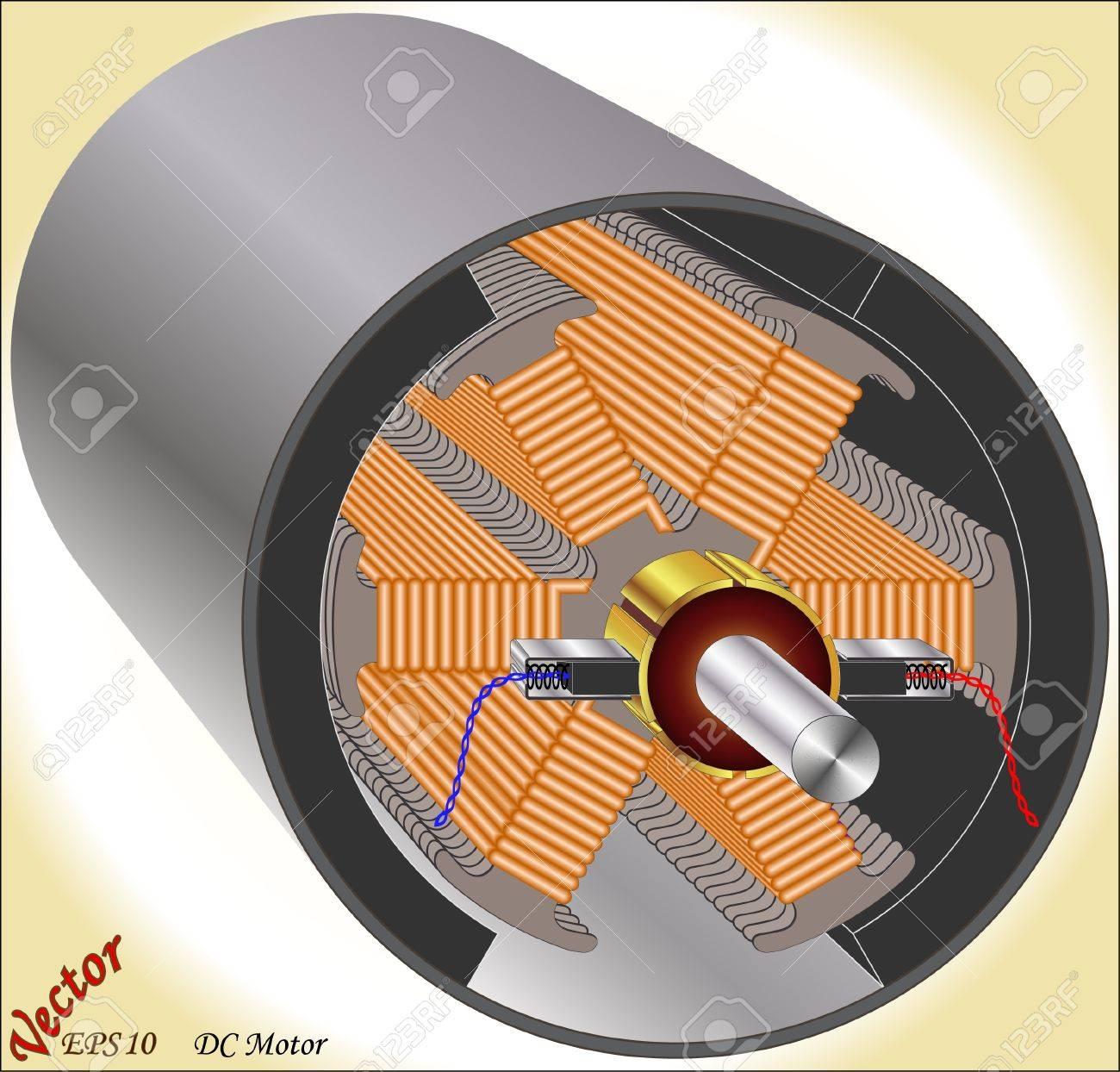 dc motor 6 poles royalty cliparts vectors and stock dc motor 6 poles stock vector 18702692