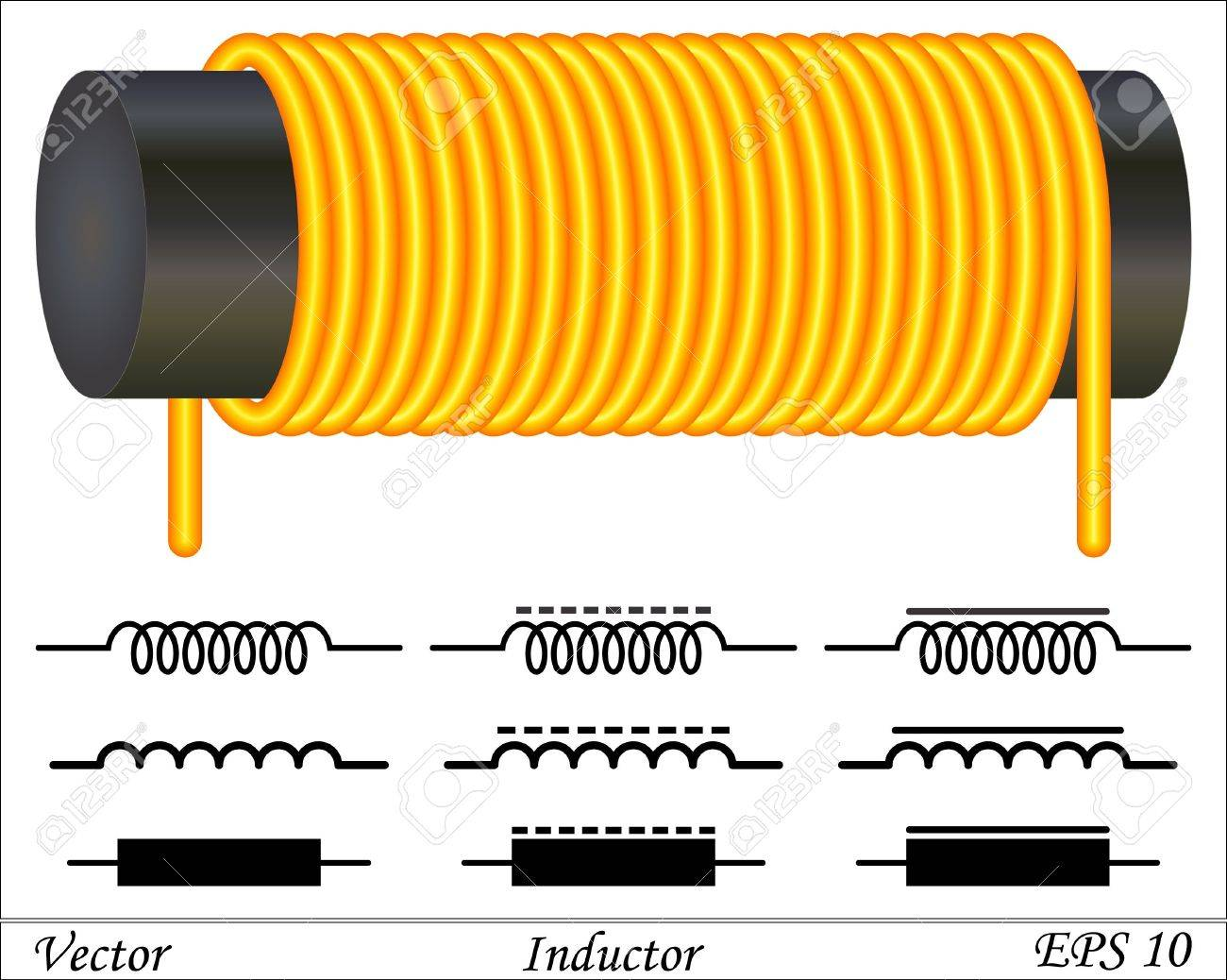 Inductor Coil Royalty Free Cliparts Vectors And Stock Illustration
