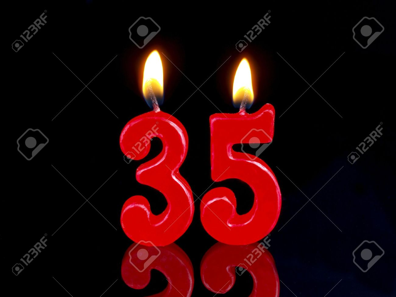 Birthday candle showing Nr. 35 Stock Photo - 15566308