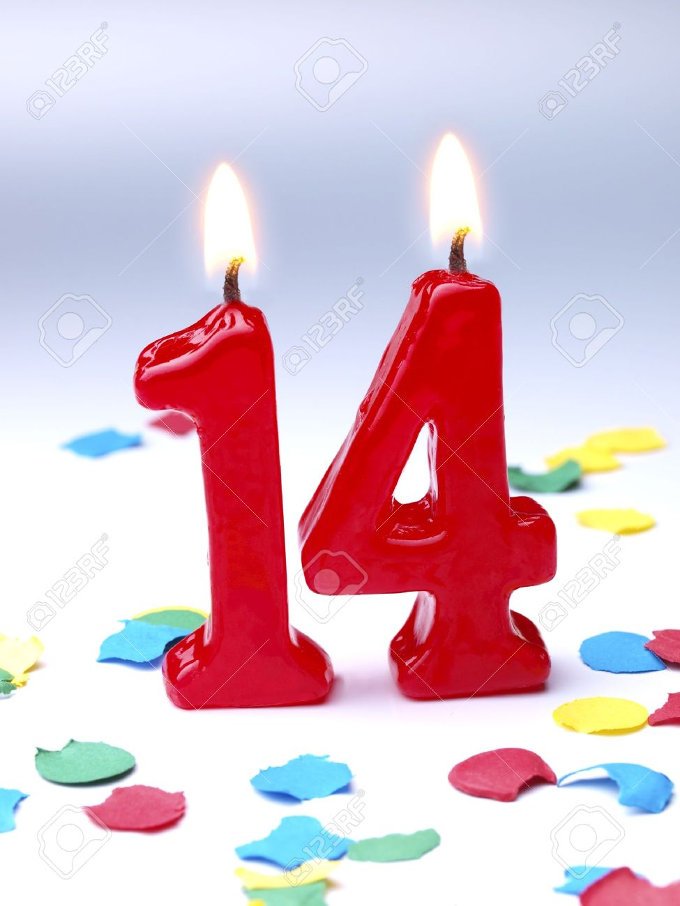 number 14 birthday candles