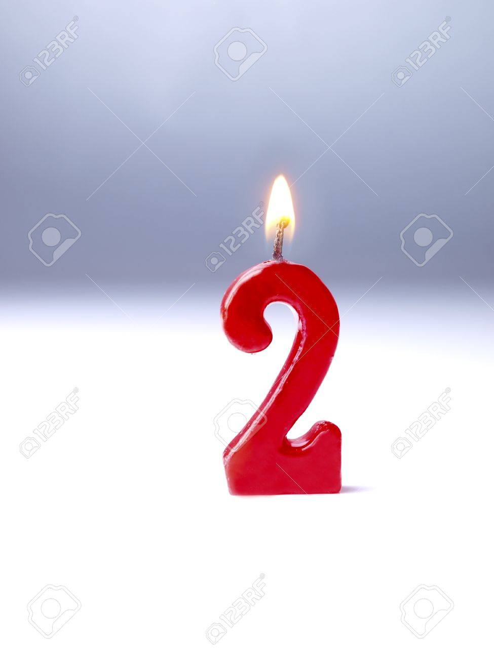 Birthday Candles Showing No 2 Stock Photo