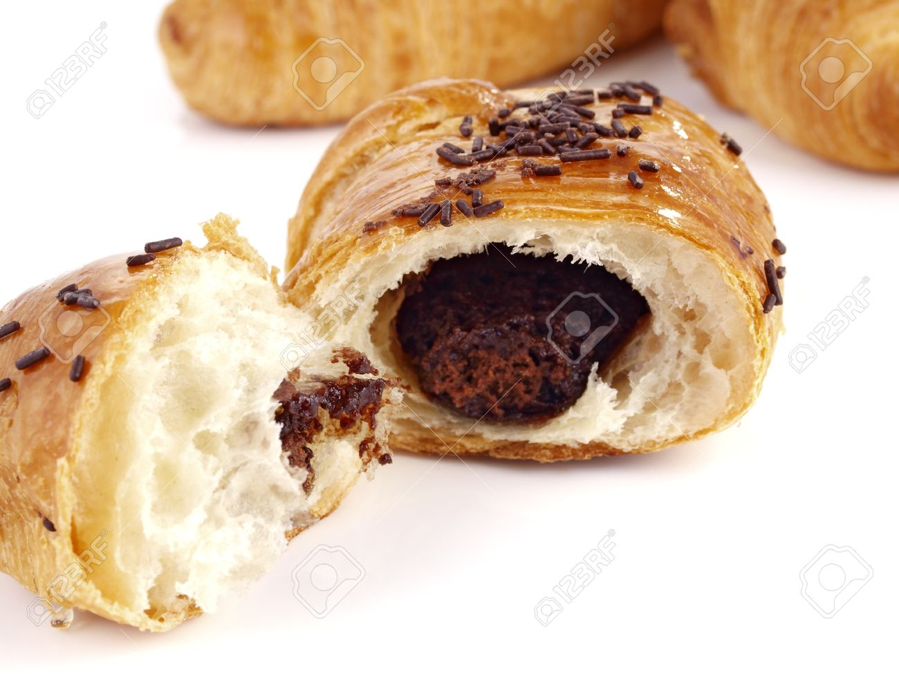 Chocolate Croissant. Tasty & Delicious Croissant Filled With ...