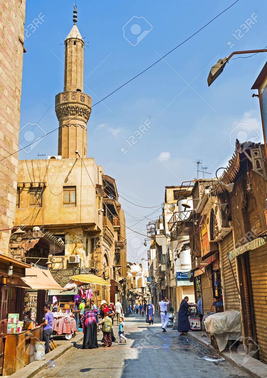 CAIRO, EGYPT - OCTOBER 10, 2014: The Khan el-Khalili souq is