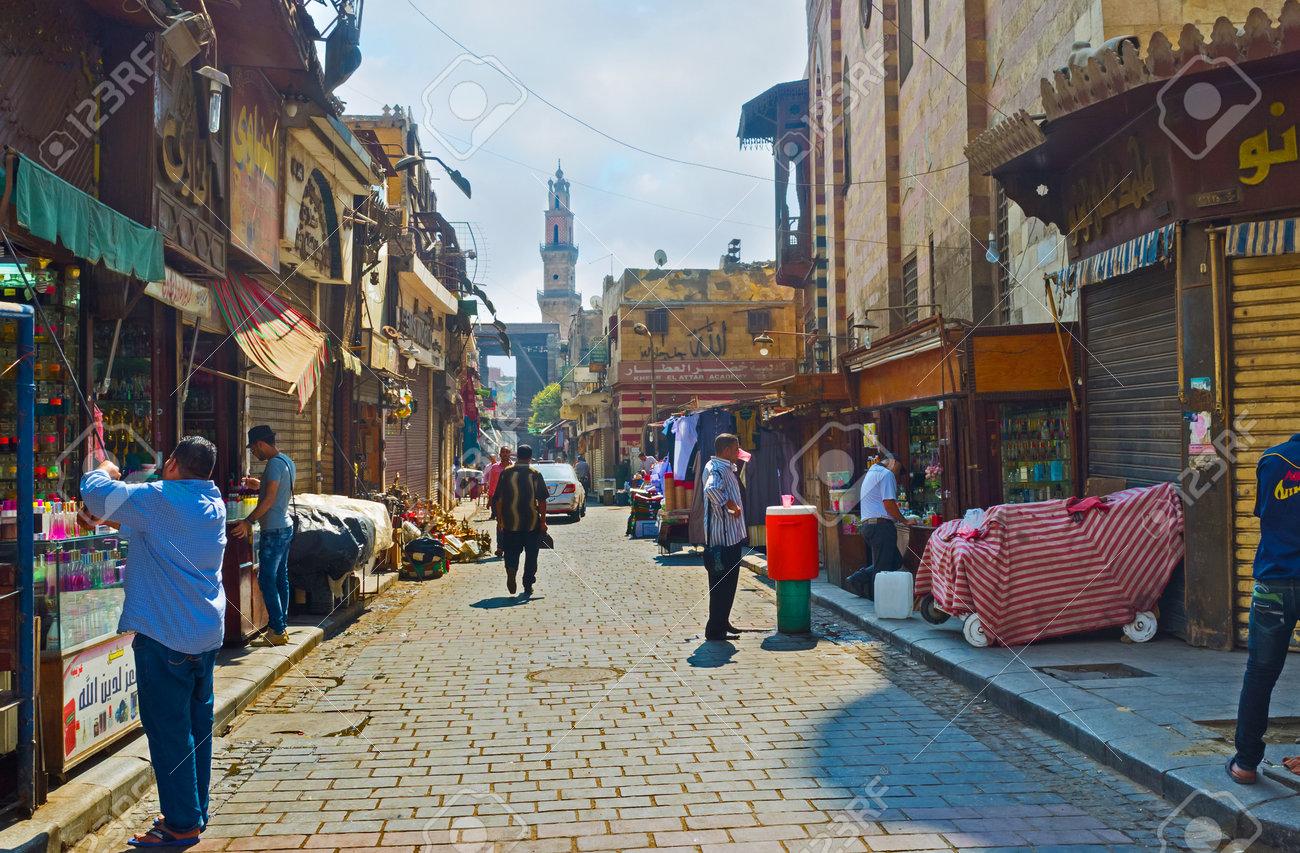 CAIRO, EGYPT - OCTOBER 10, 2014: The Khan El-Khalili souq offers