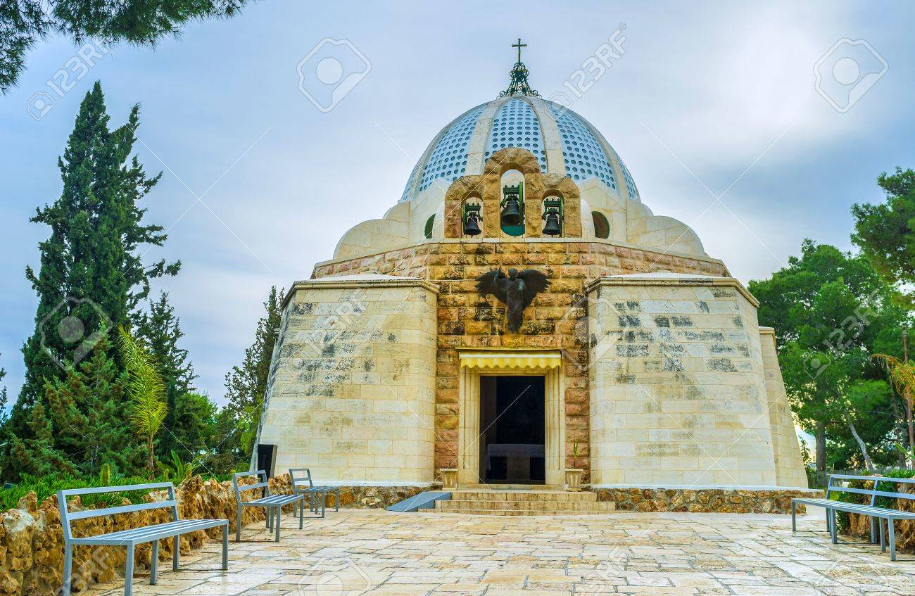 The Shepherds Field Chapel was built in the place where, according to the Holy Bible, the angel announced to the shepherds, Bethlehem, Palestine, Israel. - 54365839