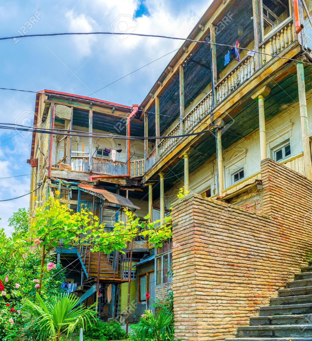 Das Alte Wohnhaus Am Hang Des Sololaki Hugels Mit Traditioneller