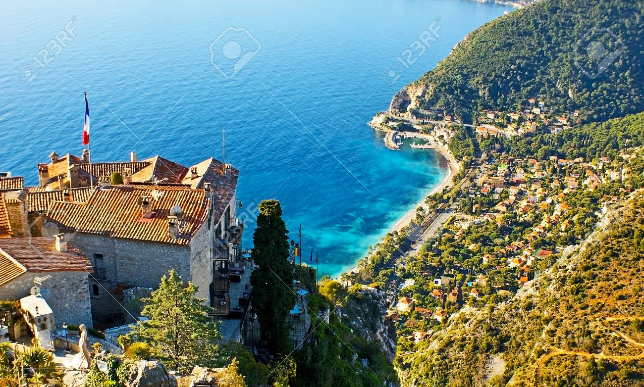 The mountain village of Eze boasts the scenic views from the..