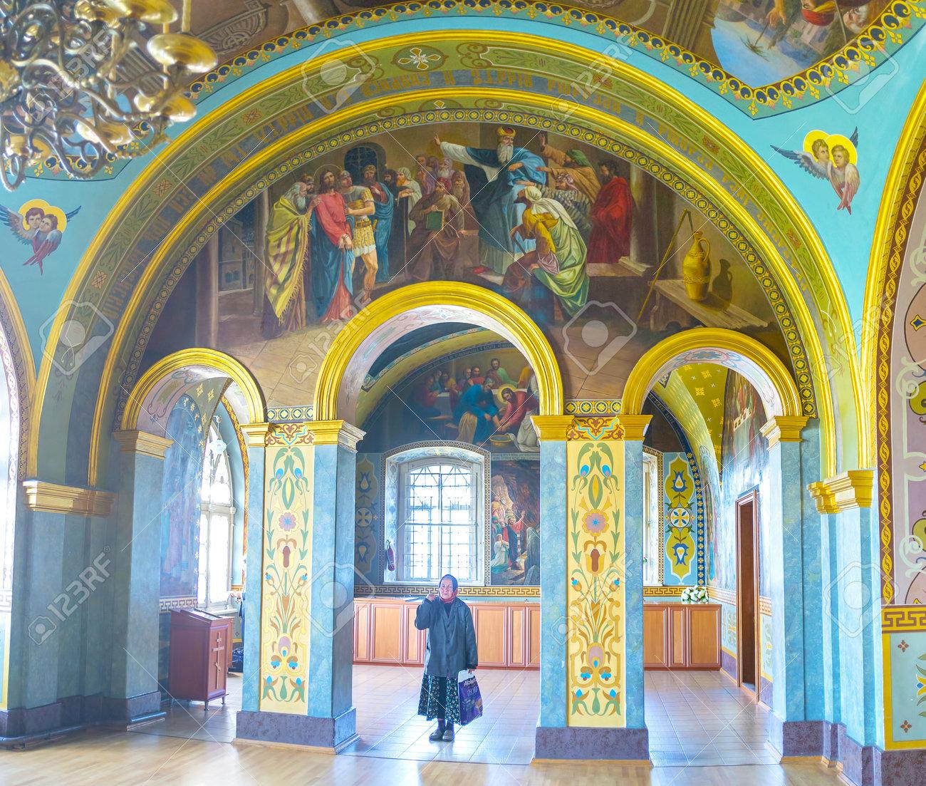 POCHAYIV、ウクライナ - 2017 年...