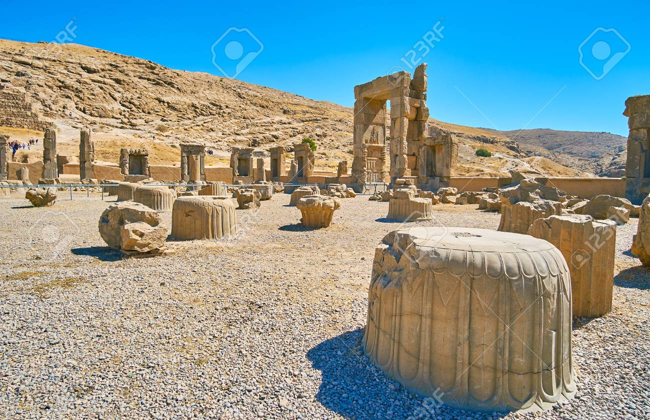 Persepolis Was The Ceremonial Capital Of Persian Empire Nowadays Stock Photo Picture And Royalty Free Image Image 91256985