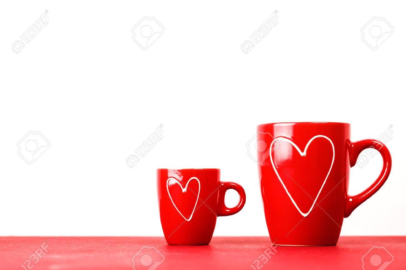 De Ou Café Tasses Homme CoeursGrand Petit Pour Thé L'amourMacro Texte FemmeConcept Le Et Rouges Deux Place Avec Des GMpzqSUV
