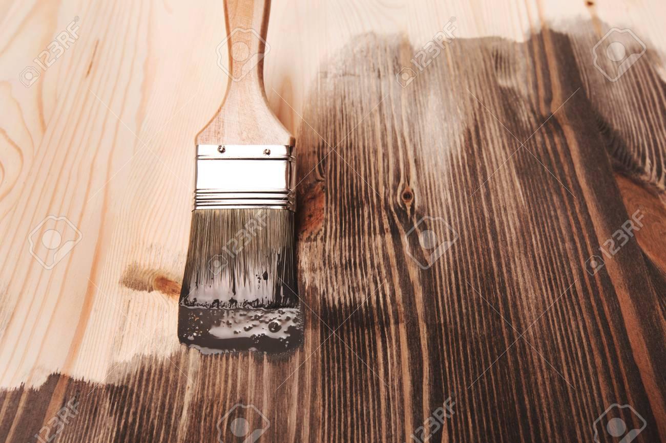 Peinture De Couleur Grise Sur La Table En Bois Ou Une Cloture Ou Un Mur Ou De La Farine Utiliser Pour La Maison Decoree Renovation Maison Demi Surface Peinte Frottis De
