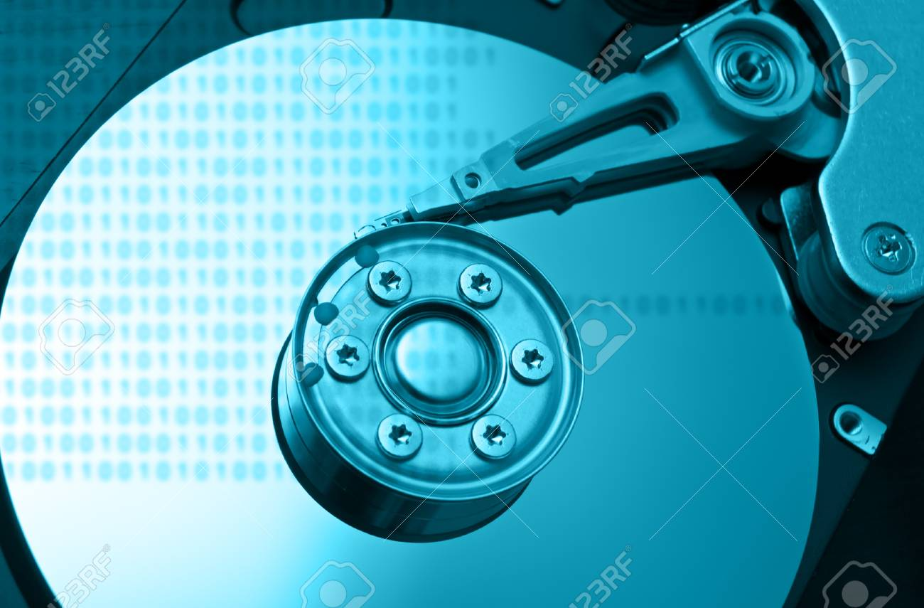 Computer hard disk technology concept. Stock Photo - 9314023