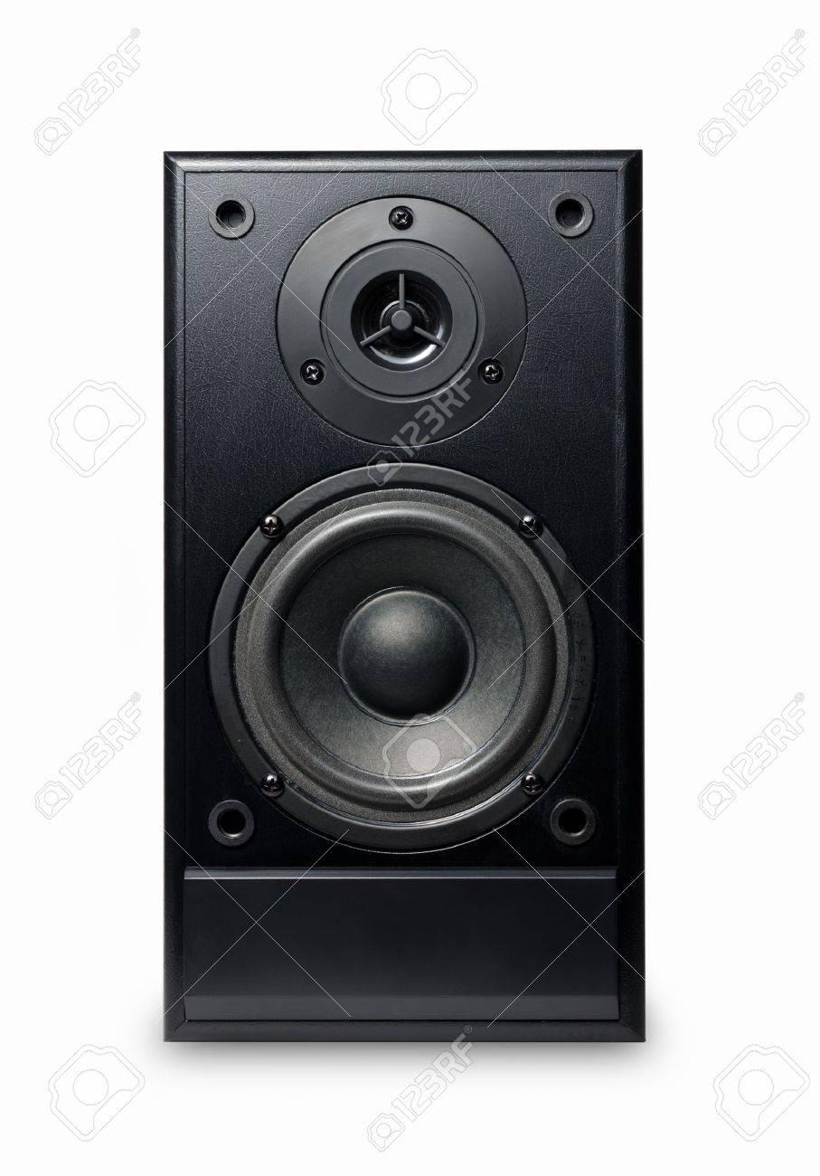 Black sound speaker on white background. Stock Photo - 10517427