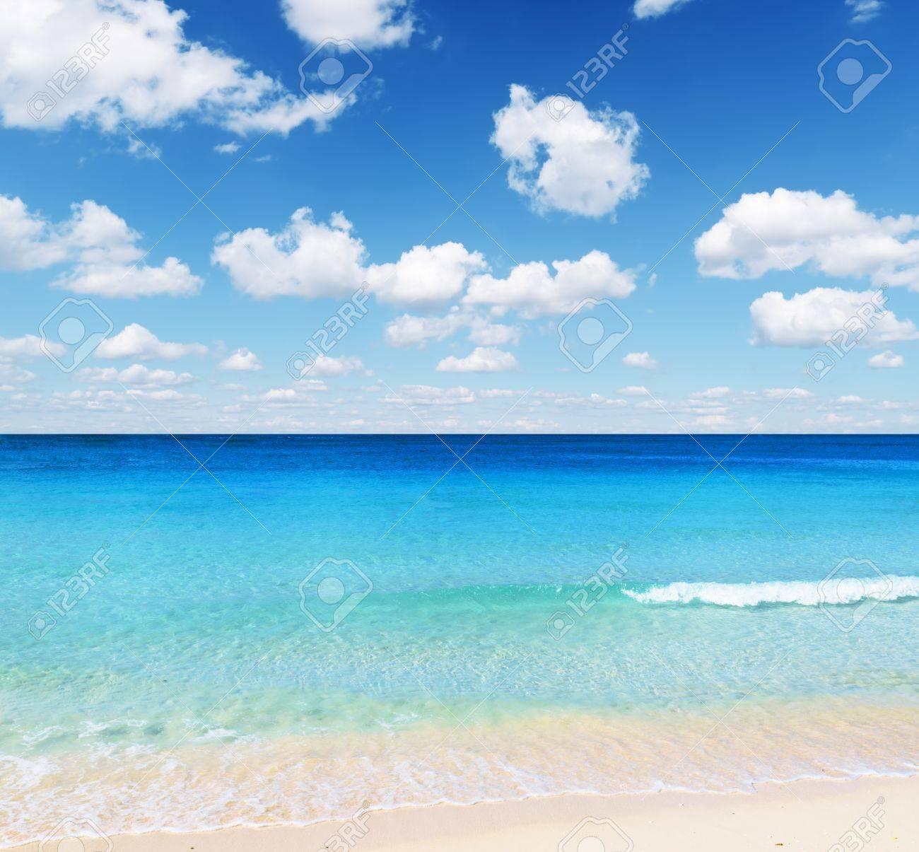 Tropical beach. Sky and sea. Stock Photo - 12322477