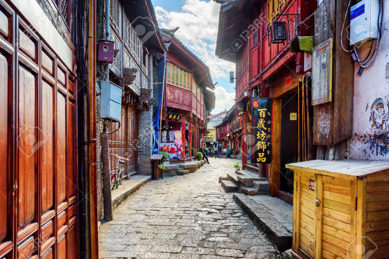 Case Tradizionali Cinesi : Lijiang provincia del yunnan cina 23 ottobre 2015: vista scenica