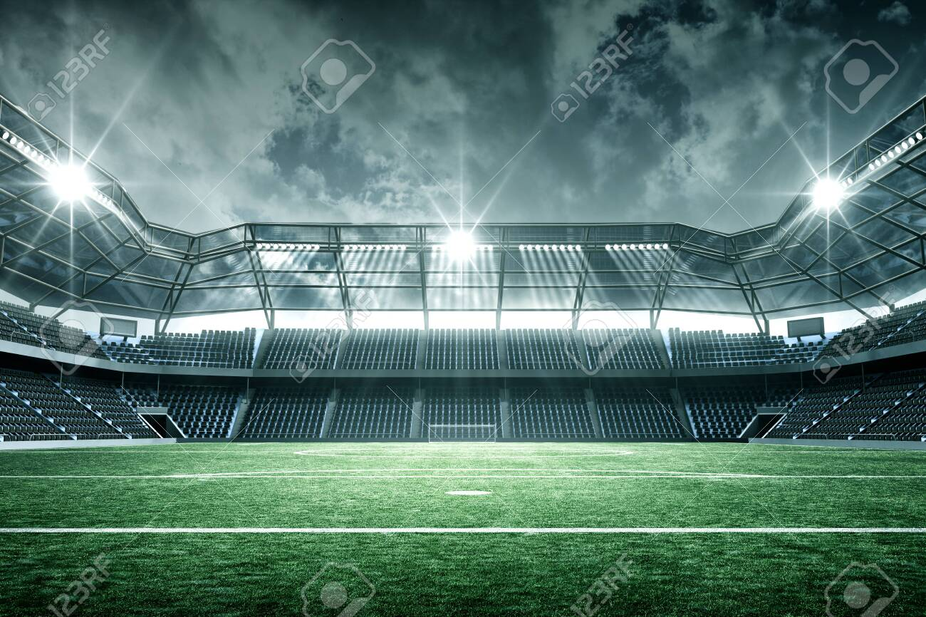 Stadium, an imaginary stadium is modeled and rendered. - 138639752